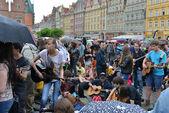 Gitarre Guinness World Record Events in Polen 1. Mai 2014 — Stockfoto