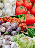 Vegetables food ingridient background — Stock Photo