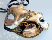 Venice carnival masks with shining stars — Foto Stock