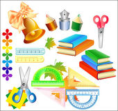 Vector set school accessories — Stock Vector
