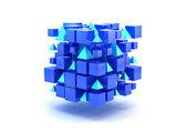 Blocs 3d bleus — Photo