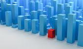 Blue 3D Blocks — Stock Photo