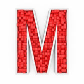 Red letter M — Stock Photo