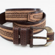 Leather belt isolated on white — Stock Photo