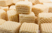 Heap wafers on a white — Stock Photo