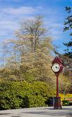 Outdoor clock — Stock Photo