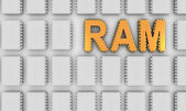 RAM letters like computer chips — Stock Photo