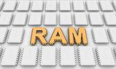 Ram buchstaben wie computer-chips — Stockfoto