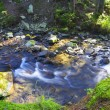 Flowing water of Carpathian mountain stream — Stock Photo