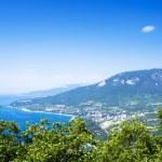 Gurzuf and Ayu Dag mountain. Crimea. Ukraine — Stock Photo #45869403