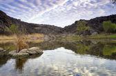 Sunrise on the river Mertvovod  — Stock Photo