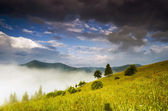 Evening mountain plateau landscape (Carpathian, Ukraine)  — Stock Photo