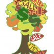 Image, symbolizing autumn sales — Stockvector #13370320