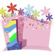 Royalty-Free Stock Vektorov obrzek: Happy First Birthday