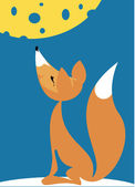 Fable of the fox and the cheese — Stock Vector
