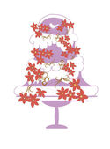 Wedding cake — Stockvector