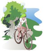 Bike ride — Stock Vector