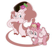 Family of elephants — Stock Vector