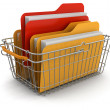 Shopping Basket and folders Keywords: — Stockfoto