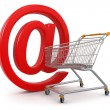 Stock Photo: Shopping Cart with e-mail