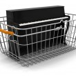 Stock Photo: Shopping Basket and Piano