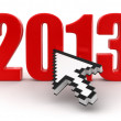 Stock Photo: Cursor and 2013