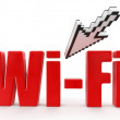 Stock Photo: Signal WI-FI