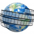 Film Strip and globe — Stock Photo #31778217