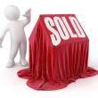 Stock Photo: Sold House
