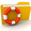 Stock Photo: Folder and Lifebuoy