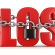 Lose and lock — Stockfoto