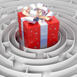 Stock Photo: Maze to gift