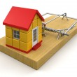 House in mouse trap — Stock Photo