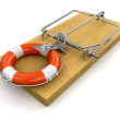 Mousetrap with Lifebuoy — Stock Photo #31779803