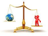 Balance people and Earth — Stock Photo