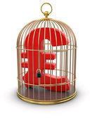 Gold Cage with Pound — Stock Photo