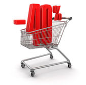 Shopping Cart and -40 percents — Stock Photo