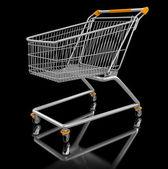Shopping supermarket cart — Stock Photo