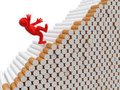 Man falls from cigarettes — Stock Photo