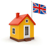 United Kingdom Flag and house — Stock Photo
