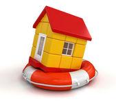 House in lifebuoy — Stock Photo