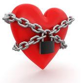 Heart and lock — Stock Photo