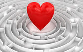 Srdce uprostřed bludiště — Stock fotografie
