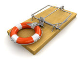 Mousetrap with Lifebuoy — Stock Photo