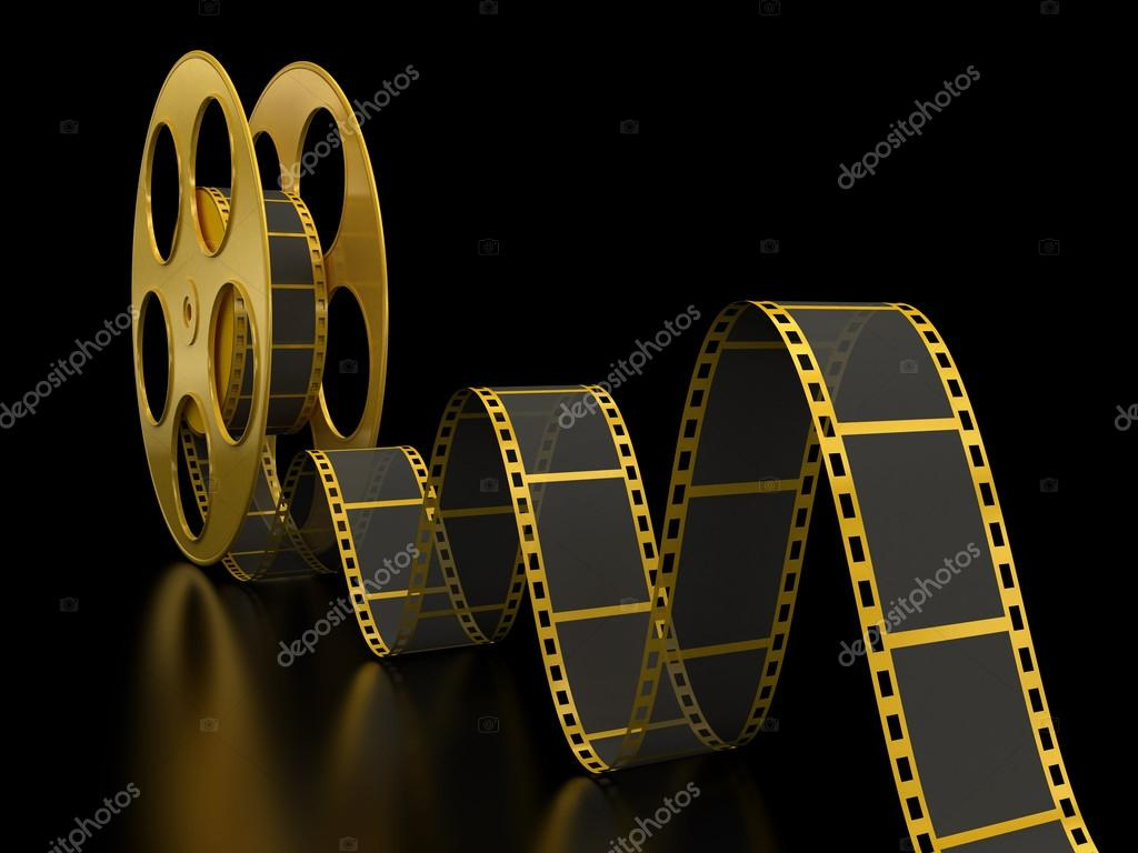 Gold film reel — Stock Photo © panama555 #31778281
