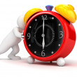 Person showing alarm clock — Stock Photo