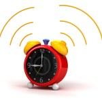 Alarm clock cartoon — Stock Photo