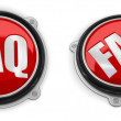 FAQ button — Stock Photo
