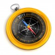 Stock Photo: Gold Compass