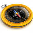 Stock Photo: Golden vintage compass